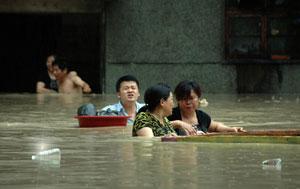 A flood scene essay